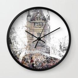 London map - Tower Bridge painting Wall Clock