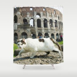 The Cat of the Colosseum Shower Curtain