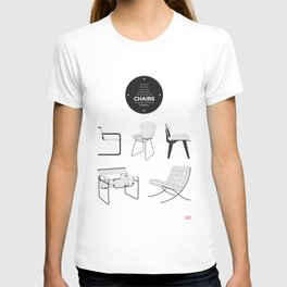 CHAIRS - A tribute to seats (minimalistic version) T-shirt