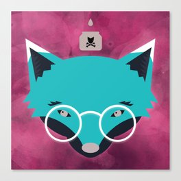 Smart Fox Canvas Print