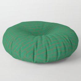 Green Wall Red Line Floor Pillow