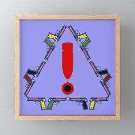 Guns - A Warning Sign Framed Mini Art Print