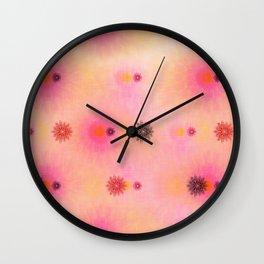 flower power happiness Wall Clock