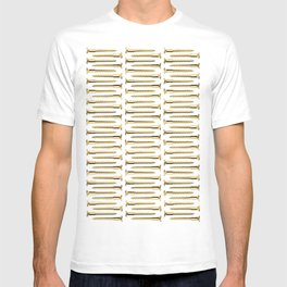 Golden Screws Pattern Poster T-shirt