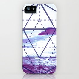 The Elements Geometric Nature Element of Water iPhone Case