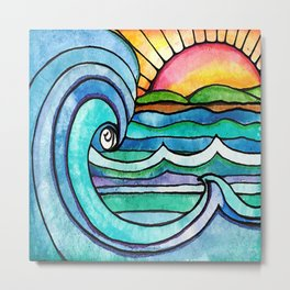 Beachy #society6 #spring #summer Metal Print