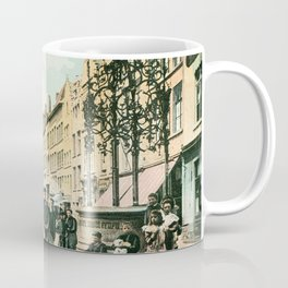 Antwerp Belgium city center restored view around 1900 Coffee Mug
