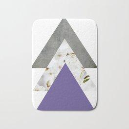 Ultra Violet Blossoms Arrows Bath Mat