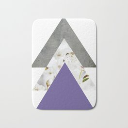 Ultra Violet Blossoms Arrows Bath Mat