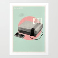 nintendo Art Prints featuring Nintendo by Vold1
