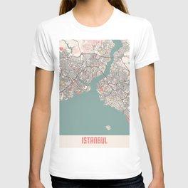 Istanbul - Turkey Chalk City Map T-shirt