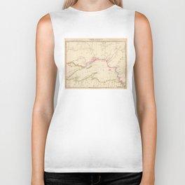 Vintage Map of Lake Superior (1832) Biker Tank