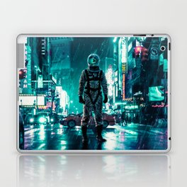 Another Rainy Night ( The Continuous Tale Of The Lost Astronauta) Laptop & iPad Skin