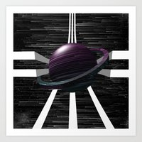 saturn Art Prints featuring Saturn by Isaak_Rodriguez