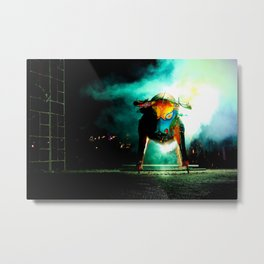 Bull and Fire Metal Print
