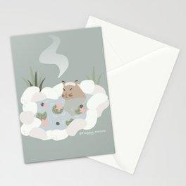 Capybara Hotspring   Onsen  Stationery Cards