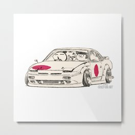 Crazy Car Art 0175 Metal Print