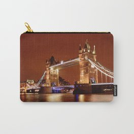 Tower Bridge on the River Thames, London, at night Carry-All Pouch