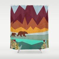 nirvana Shower Curtains featuring Peak by Kakel
