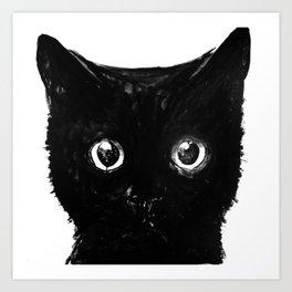 cute black cat Art Print