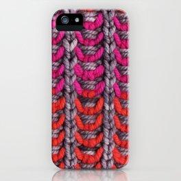 Neon Mikkey Knit iPhone Case