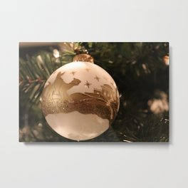 We Three Kings Bauble Metal Print