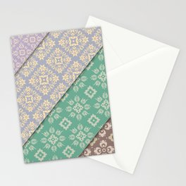 Layered patterns Stationery Cards
