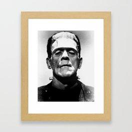 Frankenstein 1933 classic icon image, flawless, timeless horror movie classic Framed Art Print