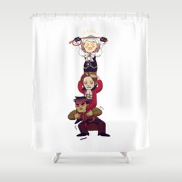 hierarchy Shower Curtain