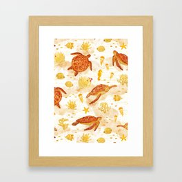 Hawksbill Sea Turtles Framed Art Print