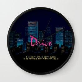 Drive Movie Pixel Night Wall Clock