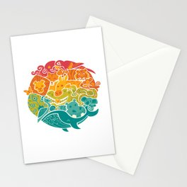 Animal Rainbow Stationery Cards