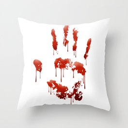 Bloody Hand Throw Pillow