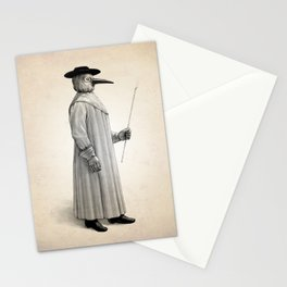 Plague Doctor Human Anatomy Art Print Stationery Cards