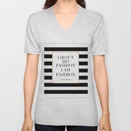 QUOTE,  Wall Art, Decor,I Don't Do Fashion I Am Fashion, Girls Room Decor,Fa Unisex V-Neck