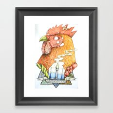 bird disease Framed Art Print