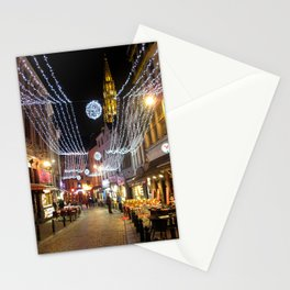 Cozy street in Brussels Stationery Cards