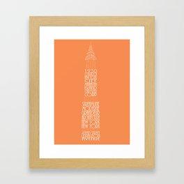 Chrysler Buidling Orange Framed Art Print