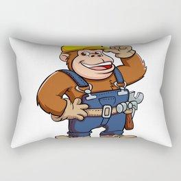 Cartoon of a Gorilla Handyman Rectangular Pillow