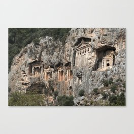 Dalyan Rock Tombs Canvas Print