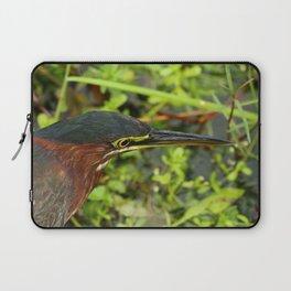 Green Heron Portrait Laptop Sleeve