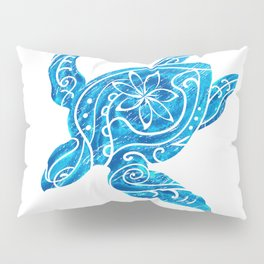 Vintage Hawaiian Tribal Turtle Pillow Sham