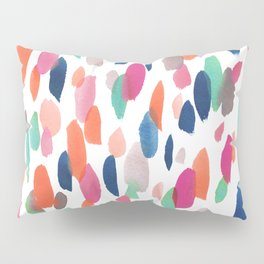 Watercolor Dashes Pillow Sham
