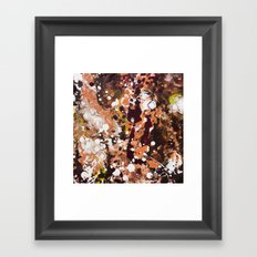 Tabby Cat Orange & Dark Chocolate Brown [Kate Jones] Framed Art Print