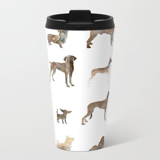 Dogs Metal Travel Mug