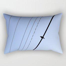 Bird on a Wire Rectangular Pillow