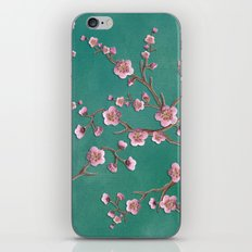 SAKURA LOVE - GREEN iPhone Skin