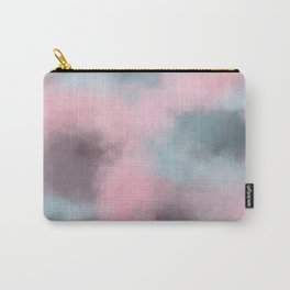 Pink, Grey / Gray & Aqua Cloudscape Carry-All Pouch