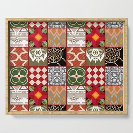 National ethnic patchwork . Serving Tray