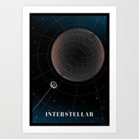 interstellar Art Prints featuring Interstellar by Spiritius